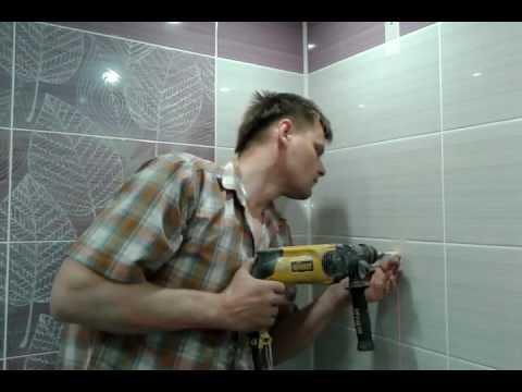 Как прикрепить держатель для душа в ванной