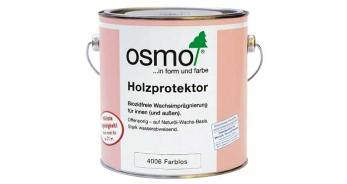Водоотталкивающая пропитка для древесины Osmo Holzprotektor 4006 2,5 л