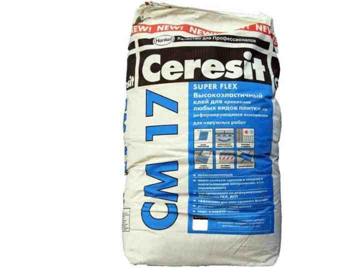 Клей для керамогранита Ceresit СМ 17 Super Flex 25 кг