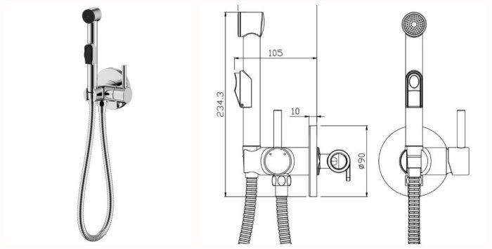 Смеситель для ванной OLIVE'S SANITARIAS Balear 13131BL однорычажный встраиваемый