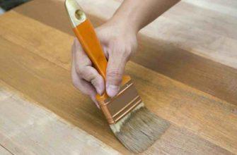 Нанесение морилки на деревянную поверхность