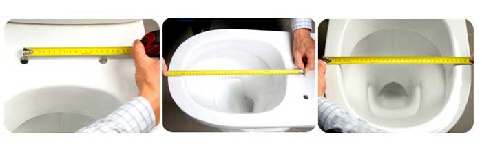 Выбор крышки иседлушки по размеру унитаза