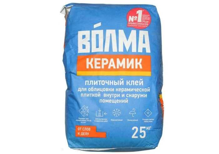Клей для плитки и камня Волма Керамик 25 кг