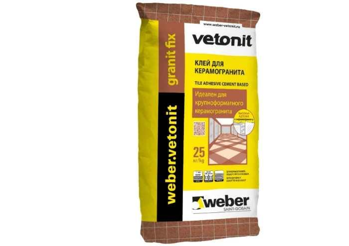 Клей для плитки и камня Weber Granit Fix 25 кг