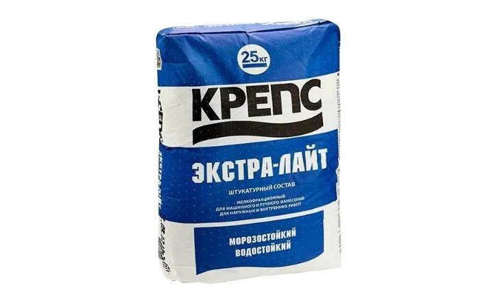 Известково-цементная штукатурка КРЕПС Экстра-лайт, 25 кг