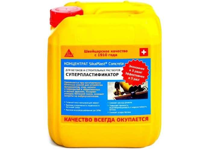 Добавка пластификатор Sika SikaPlast Concrete 5 л
