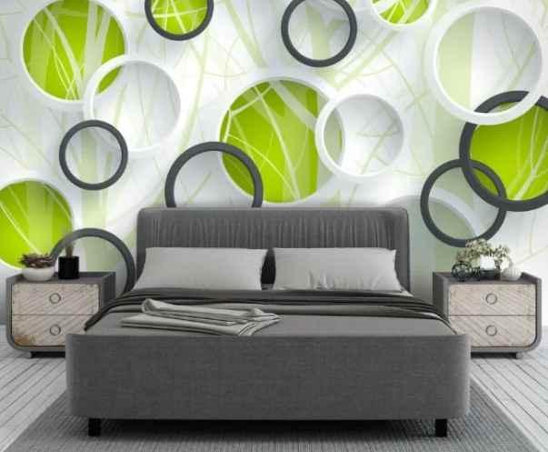 Design Studio 3D Объемные зеленые круги 3х2.7м