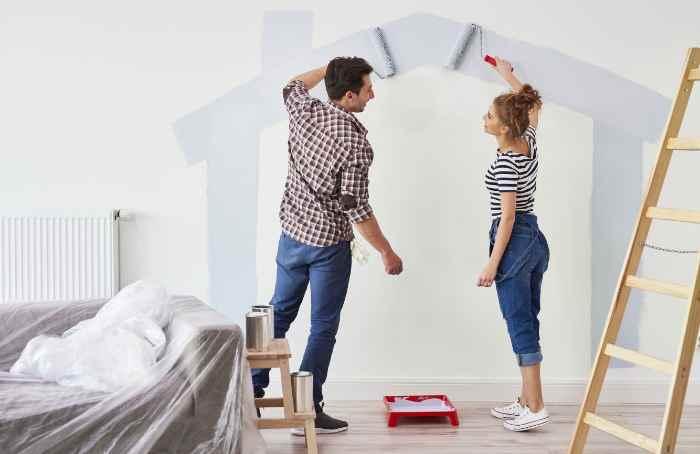 Семейное окрашивание стен