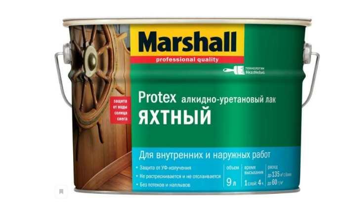Лак яхтный Marshall Protex Yat Vernik 40 алкидно-уретановый