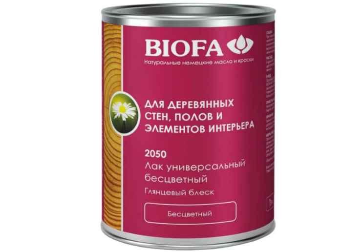 Лак Biofa 2050 Универсальный для дерева (1 л) маслянный