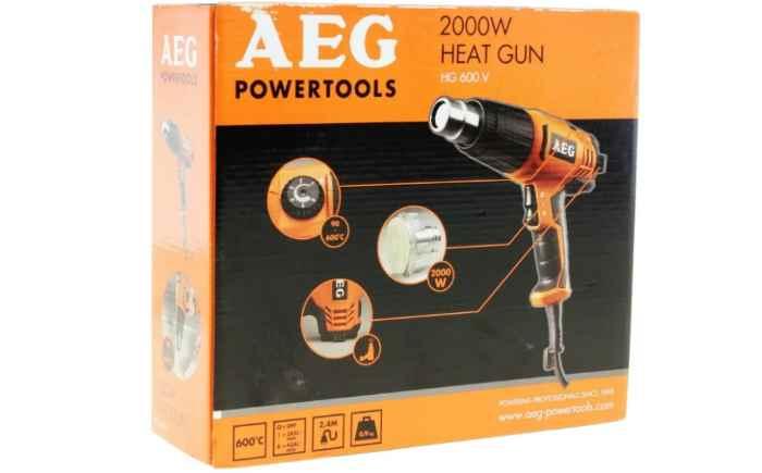 Строительный фен AEG HG 600 V 2000 Вт в коробке