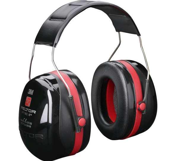 Наушники противошумные 3М™PELTOR™ Optime™ III,SNR 35 db, нескладное оголовье, чёрные/красные