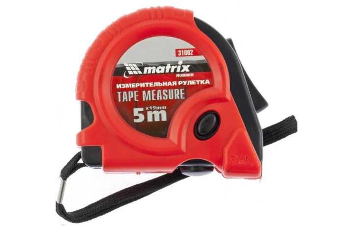 Рулетка matrix Rubber 31002 19 мм x 5 м