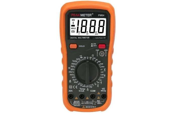 Мультиметр цифровой Peakmeter PM64