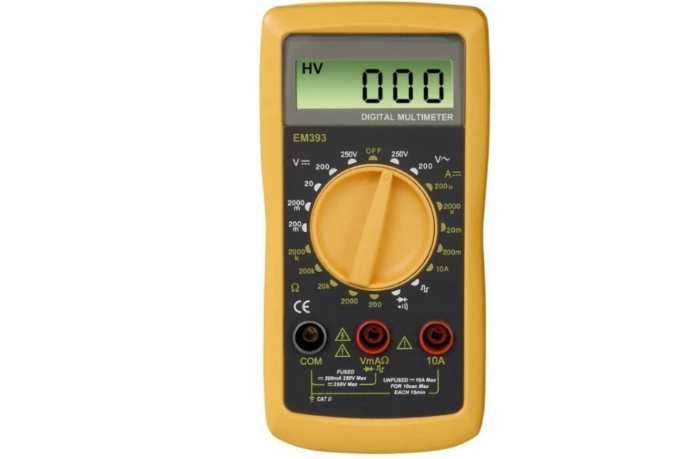 Мультиметр цифровой HAMA EM393