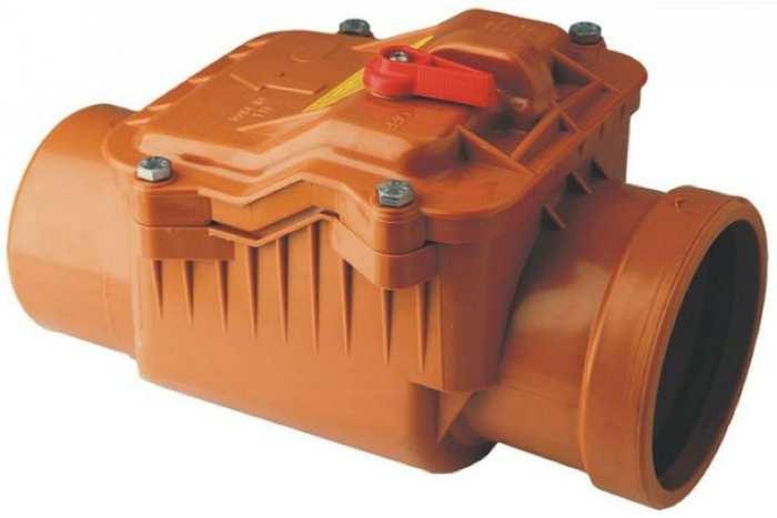 Клапан обратный канализационный Пластфитинг Ø110 (ПФØ110)