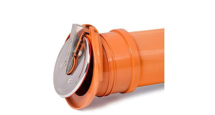 Клапан обратный канализационный Ø110 ZBK горизонтальный выпускной Karmat ZBK110