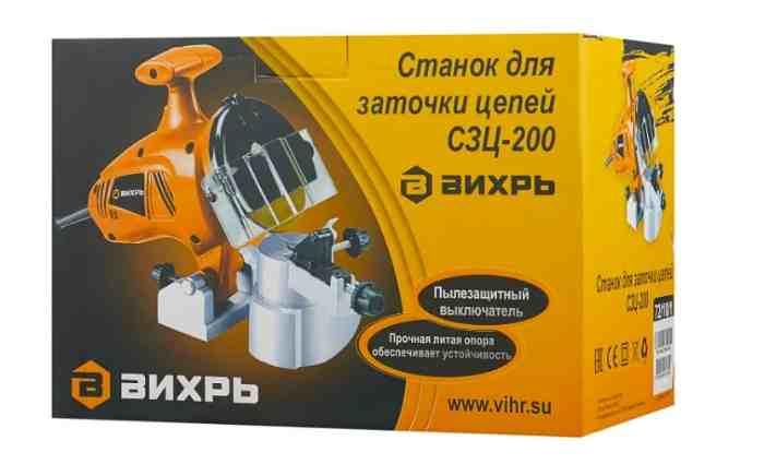 Станок для заточки цепей ВИХРЬ СЗЦ-200 в коробке