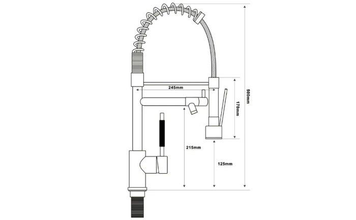 Смеситель для кухни (мойки) SHIMIZU 1006560 однорычажный