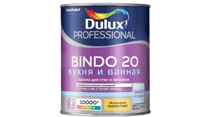 Краска латексная Dulux Bindo 20 кухня и ванная влагостойкая моющаяся полуматовая