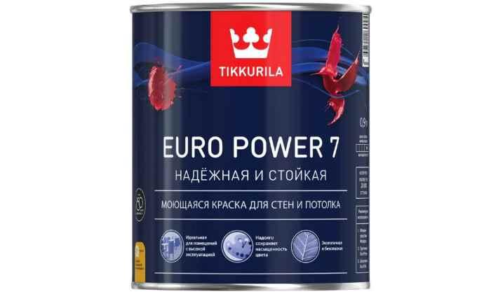 Краска Tikkurila Euro Power 7 для детской моющаяся матовая