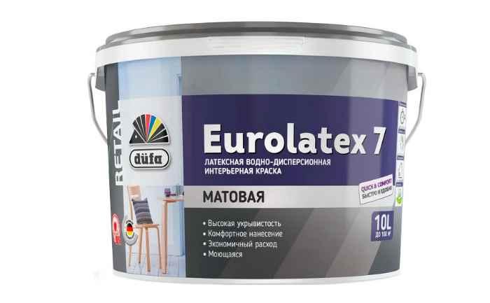 Краска латексная Dufa Retail Eurolatex 7 матовая