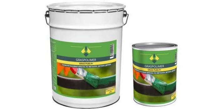 Полиуретановая двухкомпонентная маслобензостойкая грунт-эмаль GRASPOLIMER PU64-P