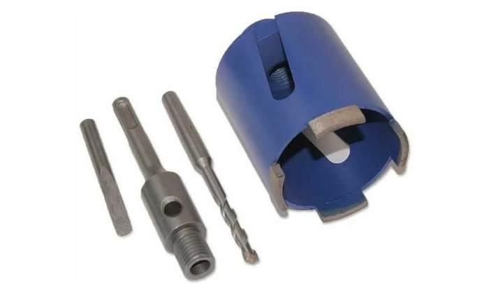 Алмазная коронка СТРОНГ для перфоратора SDS + по бетону ø 35 мм, СТК-06400035