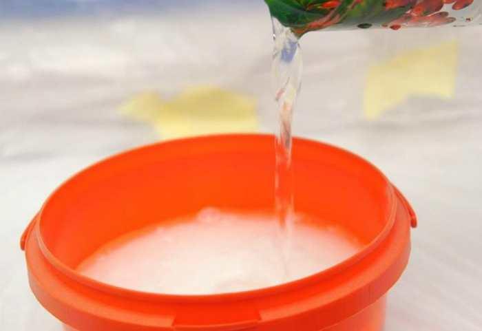 Разбавление акриловой краски водой