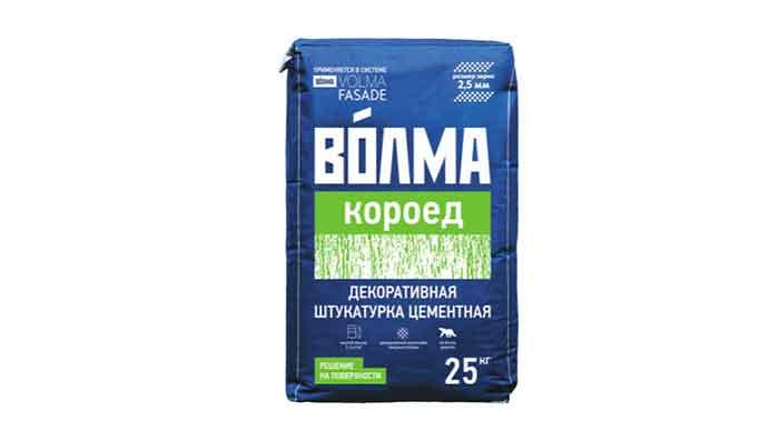 Декоративная минеральная штукатурка ВОЛМА-Короед 25кг