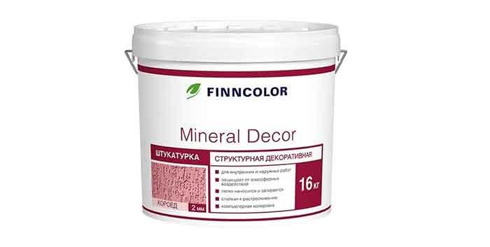 Декоративное покрытие FINNCOLOR Mineral Decor Короед 2 мм
