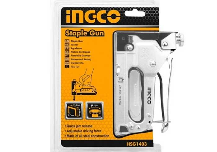 Степлер строительный, 4-14мм, INGCO HSG1403