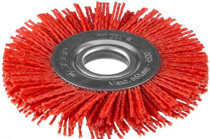 Щетка дисковая для УШМ, нейлоновая проволока с абразивным покрытием Зубр