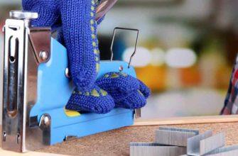 Работа мебельным степлером