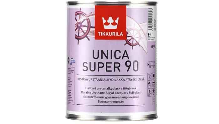 Лак яхтный Tikkurila Unica Super 90 алкидно-уретановый бесцветный 0.9 л