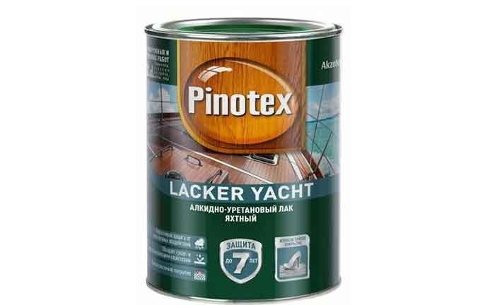 Лак яхтенный Pinotex Lacker Yacht глянцевый алкидно-уретановый бесцветный 1 л