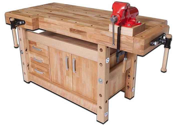 Столярный верстак деревянный, стационарный
