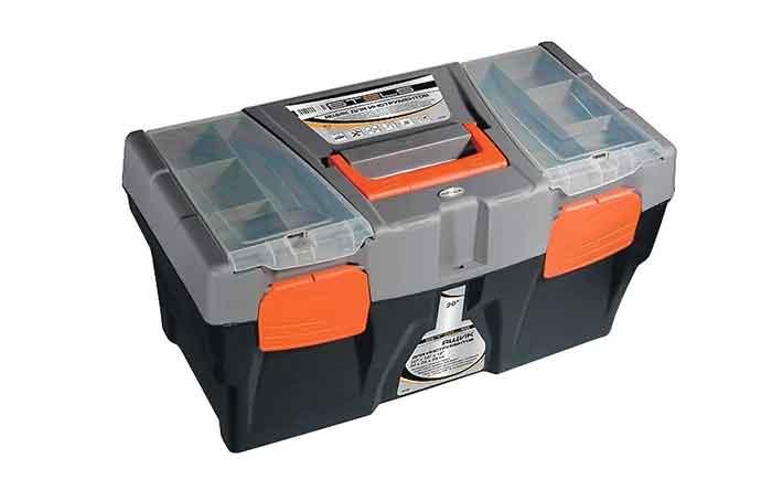 Ящик с органайзером Stels 90705 50x26x26 см 20'' черный/серый