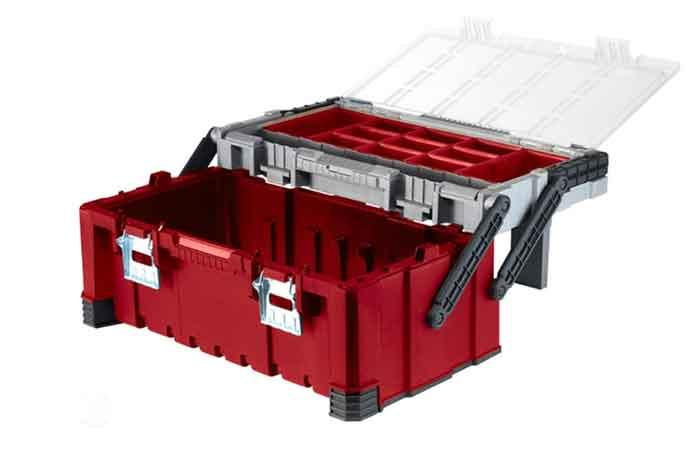 Ящик с органайзером KETER Cantilever tool box 22 в открытом виде