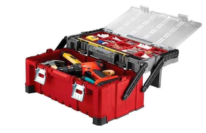 Ящик с органайзером KETER с инструментами