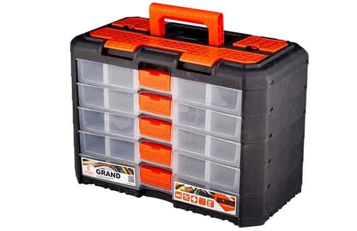 Ящик с органайзером BLOCKER Grand 5 секций BR3738 40x21.9x28.7 см черный/оранжевый