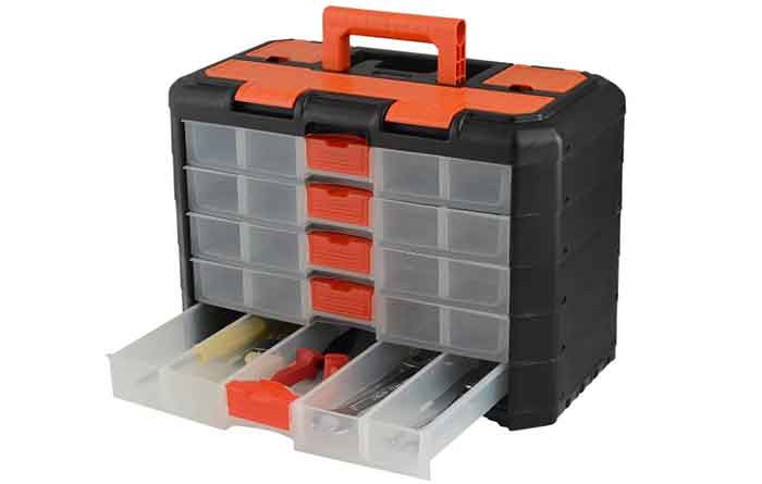 Ящик с органайзером BLOCKER Grand секция для крепёжных элементов