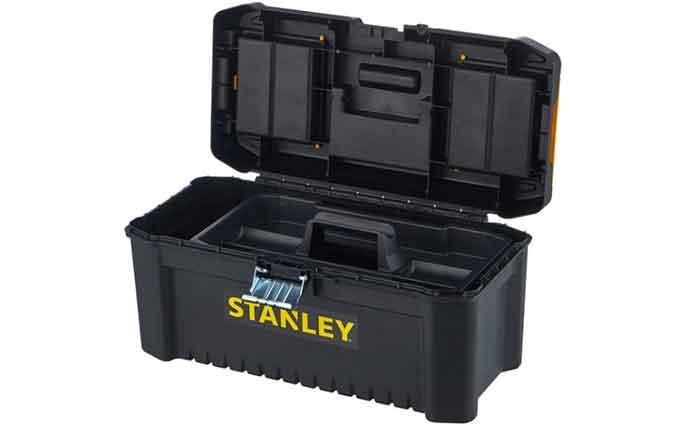 Ящик с органайзером STANLEY STST1-75518 Essential Toolbox Metal Latch в открытом виде