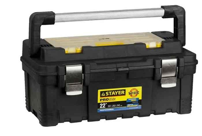 Ящик с органайзером STAYER Professional ProWide 38003-22 55.7x28.3x24.5 см 22'' черный