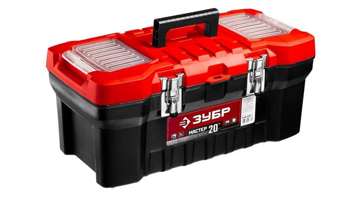 Ящик с органайзером ЗУБР Мастер-20 (38180-20) 51x26x22.5 см 20'' черный/красный