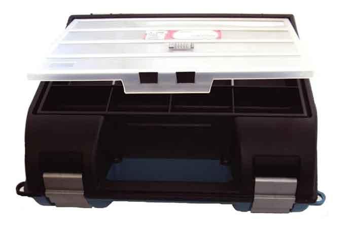 Ящик с органайзером JetTools JT1602318 34x32.5x14 см черный/синий