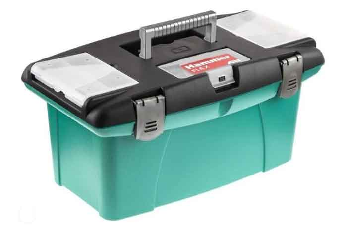Ящик с органайзером Hammer Flex 235-011 48x23.5x27 см 19'' черный/зеленый