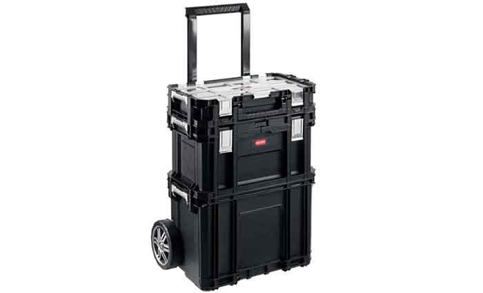 Ящик-тележка KETER Smart Rolling Work Shop (17203038) 56.4x37.2x55.2 см черный