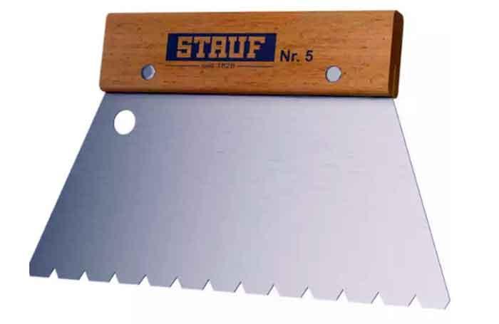 Зубчатый шпатель №5 STAUF для паркетного клея