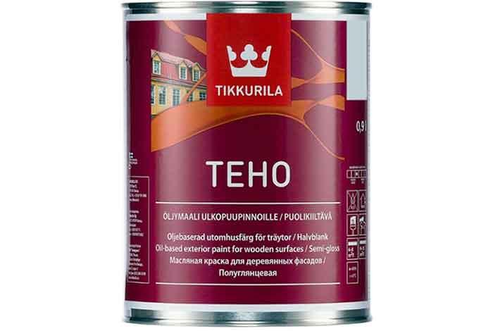 Краска масляная Tikkurila Teho Oljumaali полуглянцевая бесцветный 0.9 л